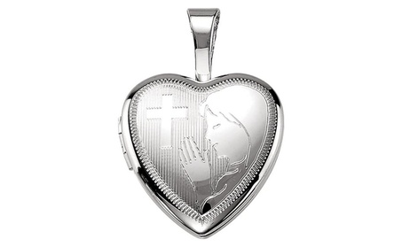 Sterling Silver Prayer Locket 9939ead1-11dc-4b55-b673-a5e6d03e159a