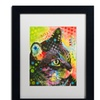 Dean Russo 'What Was That' Matted Black Framed Art