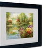 Victor Giton 'Water Lilies' Matted Black Framed Art