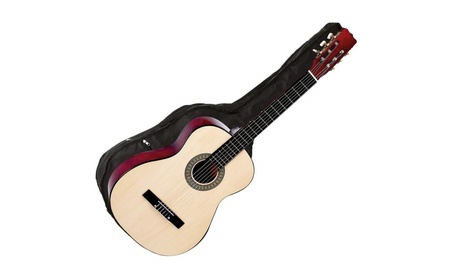 """Maxam 40"""" Classical 6 String Linden Wood Guitar with Carrying Case 69a725b8-8217-4e18-bce4-3acb59cebf65"""