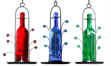 Wine Bottle Bird Seed Feeders (Goods For The Home Patio & Garden Bird Feeders & Food) photo