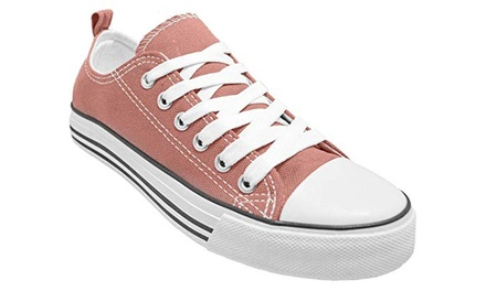 Canvas Shoes for Women Low Top Sneakers for Walking Tennis and Basketball Was: $19.99 Now: $14.99.