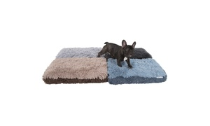 Fuzzy 2-Tone Dog or Cat Pet Bed