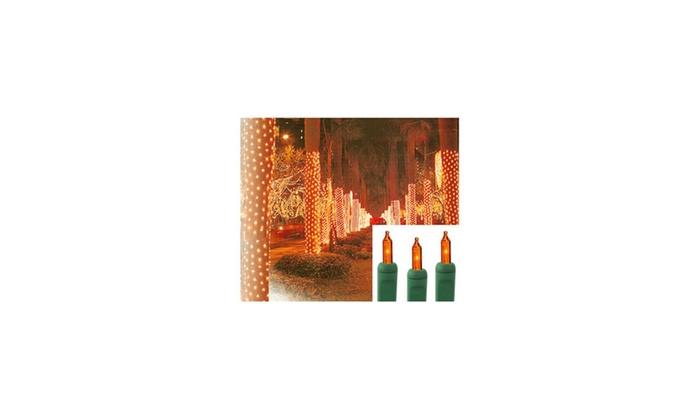 2 39 x8 39 orange amber led net style tree trunk wrap xmas. Black Bedroom Furniture Sets. Home Design Ideas