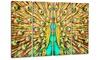 Flashy Feathers Peacock Metal Wall Art 48x28 4 Panels