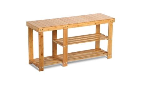 Shoe Rack Bamboo Bench Boot Organizer Seat Storage Entryway Neat NEW e98cc7bd-6b16-4f97-9890-8b5746c6bd1f