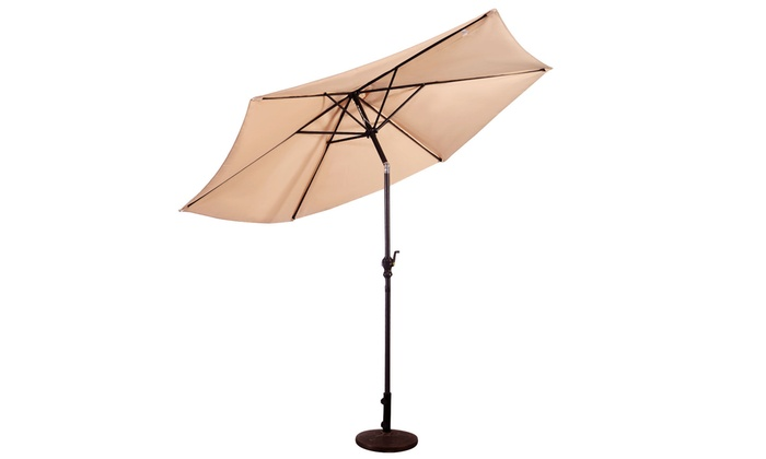 Up To 39 Off On 10ft Patio Umbrella 6 Ribs Ma Groupon Goods