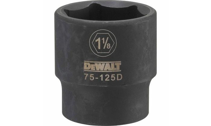 "DEWALT DWMT75125OSP 1-1//8/"" SAE Mechanics 6 Point 1//2/"" Drive Impact Socket"