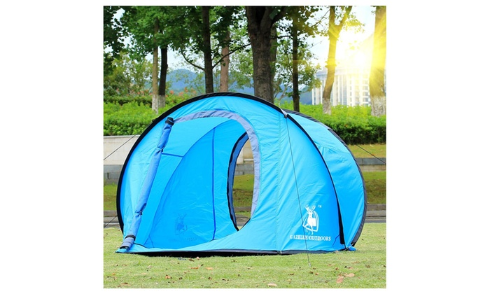 Bookishbunny Large Pop Up Backpacking C&ing Hiking Tent Automatic Instant Setup ...  sc 1 st  Groupon & Up To 50% Off on Large Pop Up Backpacking Camp... | Groupon Goods