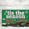 NFL Holiday Watch Football Sign