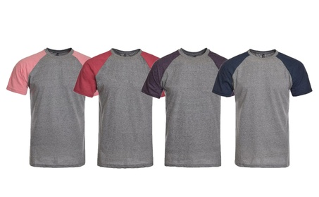 Mens slim fitted short sleeve raglan t-shirt, with tri-blend fabric 2acedc8a-9143-4d75-80cc-b5c08d9cf0b7