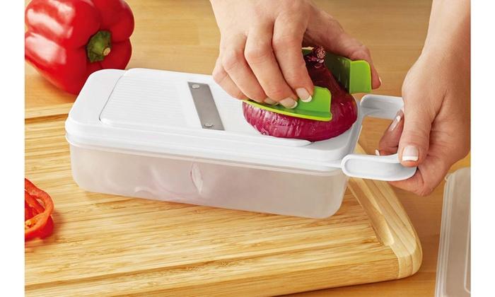 Food Storage Cutter Shredder Kitchen 7 Piece Cheese Grater Set With  Container