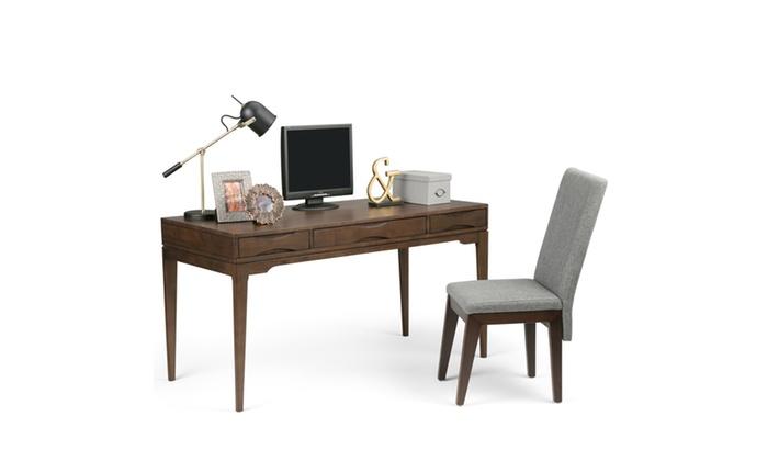 harper 60 inch desk in walnut brown groupon rh groupon com 60 inch desk with return 60 inch desk pad