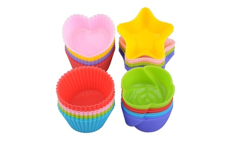 24 Nonstick Baking Muffin Cups, Silicone Cupcake Liners Cake Mold 7dc58239-c76f-45a6-a1fb-2899c5b3f8e1