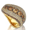 Suzy Levian Cubic Zirconia Sterling Silver 9 Stone Pave Ring