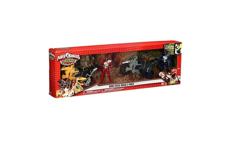 Power Rangers Dino Super Charge Red & Blue Rangers Dino Cycle Mega e799e0a5-01f2-41b3-8252-58c505d39e0a