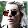 Unisex Classic Retro Round Sunglasses