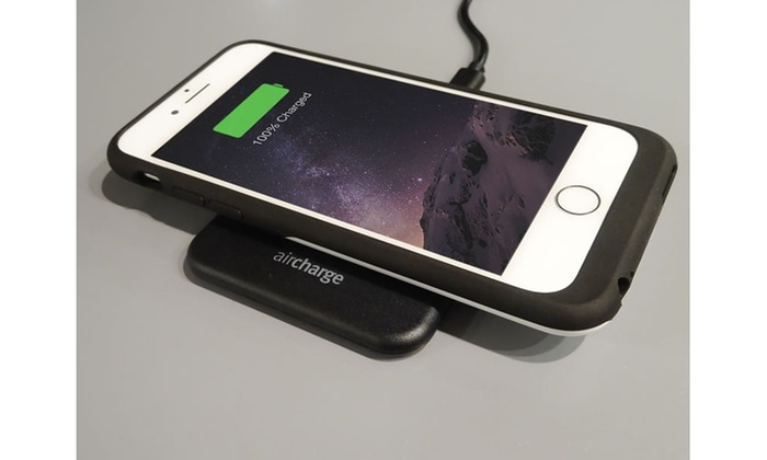 pretty nice 4115a 36fac Aircharge Wireless Charging Case and Pad for iPhone 7 Plus | Groupon