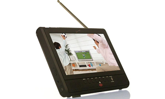 7 Inch Portable Rechargeable ATSC//NTSC Digital LCD TV W// USB SD Remote Control