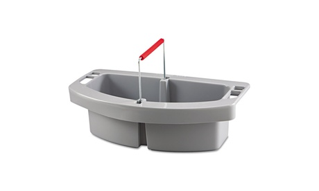 Rubbermaid Commercial Prod. Maid Caddy, 2 Comp, 16w X 9d X 5h, Gray 0e25d53b-b7bf-4358-975f-0cce13218af5