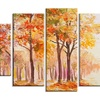 Autumn Everywhere Forest - Landscape Glossy Metal Wall Art
