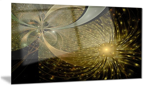 Symmetrical Firework Pattern Digital Art Metal Wall Art 28x12 c6fe7105-413e-4b66-8be7-34dbbee8ca64