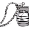 Antitank Grenade 316L Stainless Steel Punk Pendant Necklace