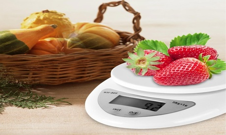 Digital Kitchen Scale Food Cooking Weight in Pounds, Grams, KG, and Ounces photo