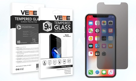 VEME Privacy Tempered Glass Screen Protector for Apple iPhones