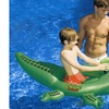 "64"" Water Sports Croc Attack Inflatable Ride-On Water Squirter Toy"