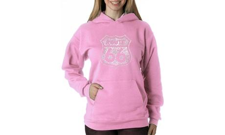 Women's Hooded Sweatshirt -Get Your Kicks on Route 66 d11ff39f-4e25-4619-8cac-c2cdbe2da7b4
