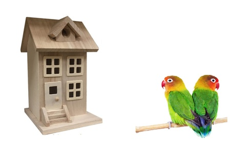 Bird House & Designed of Natural Wood (Goods Outdoor Décor Bird Feeders & Baths) photo