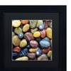 David Evans 'Shells & Pebbles' Matted Black Framed Art