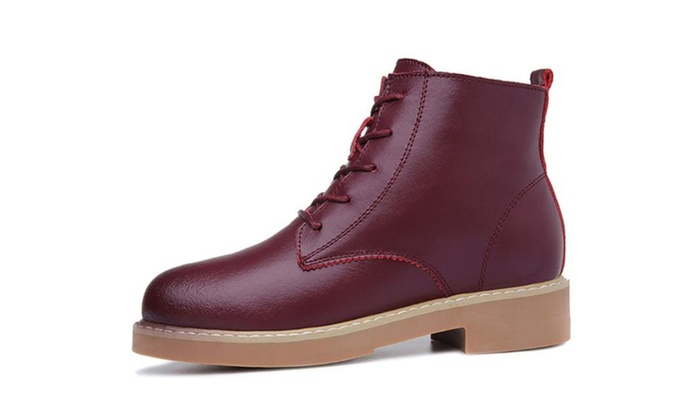 Women's Stitched Casual Martin Boots