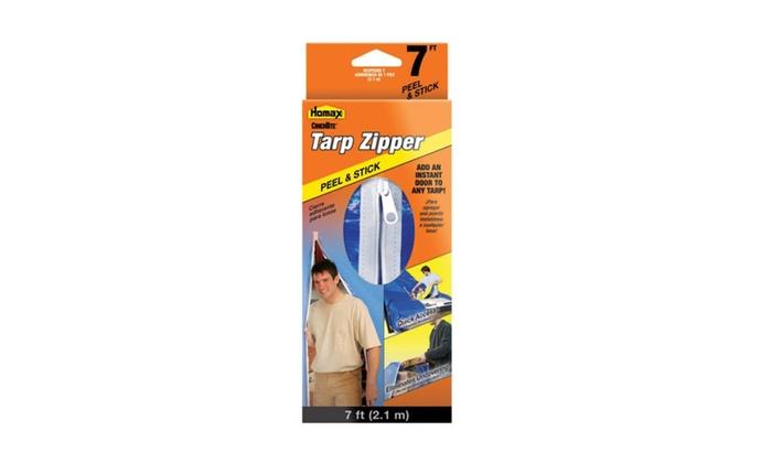 Homax 5363 CinchTite Tarp Zipper Door, 7'