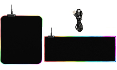 RGB LED Extra Large Soft Non-Slip Rubber Base Computer Gaming Mouse Pad Mat