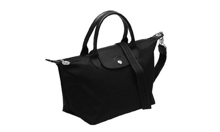 c058820302ef LongChamp Small Le Pliage Neo Nylon Tote Black