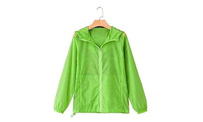 Women Waterproof Quick-dry Thin Windbreaker Jackets fruit green - fruit green / XX-Large