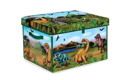 ZipBin 160 Dinosaur Collector Toy Box & Play set w/2 Dinosaurs bb870e6b-19e7-4517-84b7-7f02e09914dc