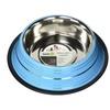 Iconic Pet 51455 24 oz. Color Splash Stripe Non-Skid Pet Bowl - Blue