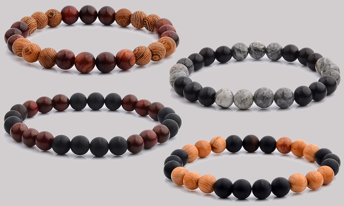 Men S Natural Wood Bead Bracelets By Crucible