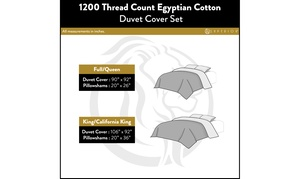 Superior 1200 TC Egyptian Cotton Solid 3PC Duvet Cover Set