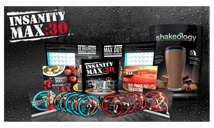 Insanity Max 30: Fitness Workout 13 DVD Set w/ Shaun T ...