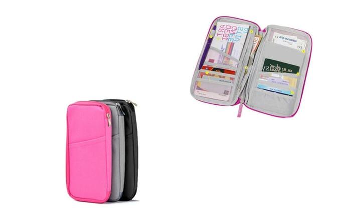 Multicolor Card Passport Organizer Wallet