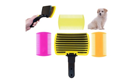 Pet Grooming De-Shedding Slicker Brush Flea Combs Set for Cats & Dogs 056a6b78-bd4d-438e-88c0-fb271f28d1ab
