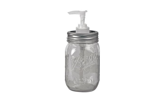 Carson 22228 Redneck Mason Jar Condiment Dispenser, 16 oz