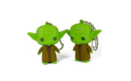 Lightsaber Grandmaster Yoda Jedi Action Figure Toys Sound Keychain 716148f4-fd67-493e-ba93-6886abea5e29