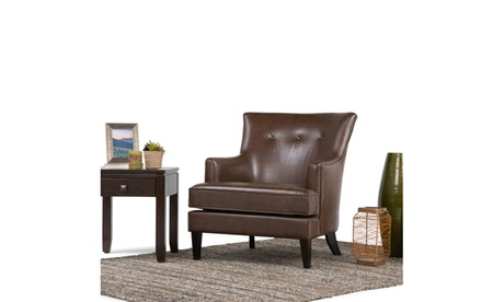 Closeout Galway Air Leather Club Chair in Distressed Brown f3277bad-47cc-4264-a72c-d8d540c18eeb