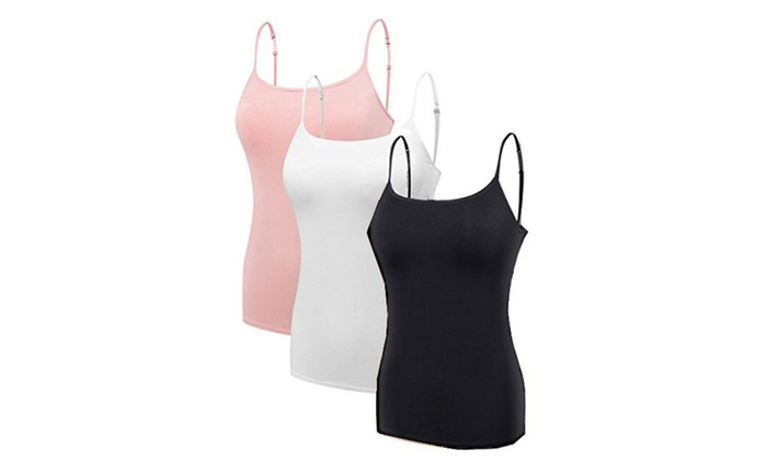 fad94e86c15 3 Pack Maternity Nursing Camisole with Built-In Bra Tank Top | Groupon