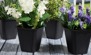 "Pure Garden 6"" Flower Pots (1- or 4-Pack)"